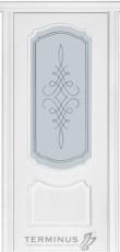 Міжкімнатні двері Модель 41 ясен білий емаль зі шпону